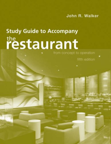 The Restaurant: From Concept to Operation 9780470140598