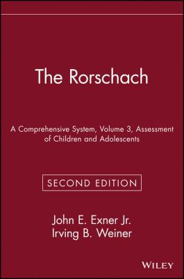 The Rorschach, Assessment of Children and Adolescents 9780471559276