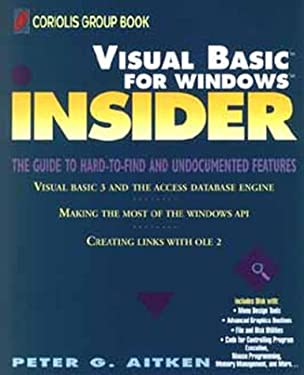 Visual Basic for Windows Insider 9780471590927