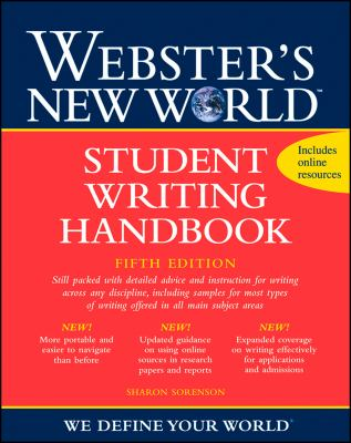 Webster's New World Student Writing Handbook 9780470435397