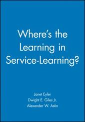 Where's the Learning in Service-Learning 9744000
