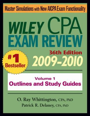 Wiley CPA Exam Review, Volume 1: Outlines and Study Guides 9780470453353