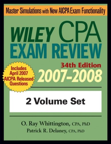 Wiley CPA Examination Review 2007-2008, Set 9780471798736
