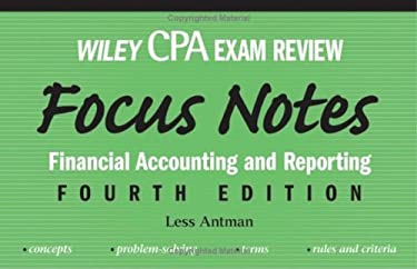 Wiley CPA Examination Review Focus Notes: Financial Accounting and Reporting 9780471784401