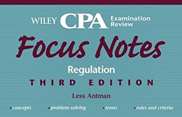 Wiley CPA Examination Review Focus Notes, Regulation 9780471453871