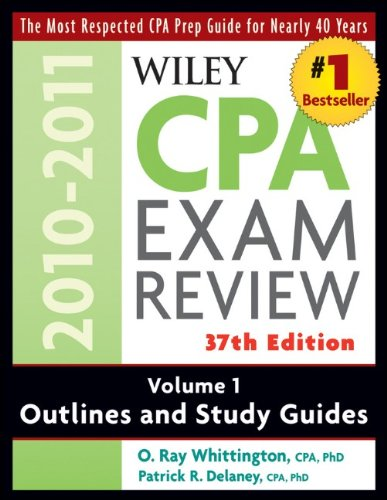 Wiley CPA Exam Review, Volume 1: Outlines and Study Guides 9780470554272