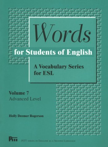 Words for Students of English: A Vocabulary Series for ESL 9780472082179