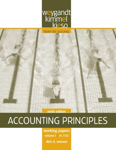 Working Papers, Volume I, CHS. 1-12 to Accompany Accounting Principles 9780470386620