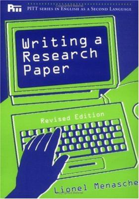 Writing a Research Paper, REV. Ed. 9780472083695