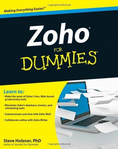 Zoho for Dummies 9780470484548