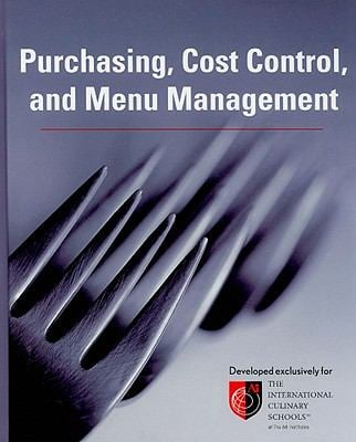 Purchasing Cost Control, and Menu Management 9780470179161