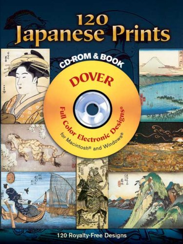 120 Japanese Prints [With CD-ROM] 9780486997407
