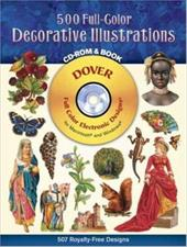 500 Full-Color Decorative Illustrations CD-ROM and Book [With]