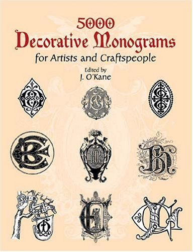 5000 Decorative Monograms for Artists and Craftspeople 9780486429793