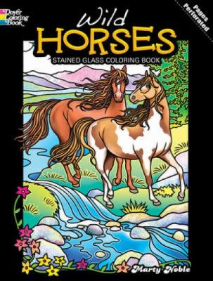 Wild Horses Stained Glass Coloring Book 9780486481937