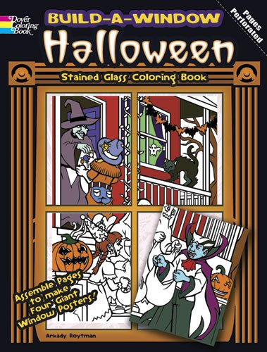 Build-A-Window Stained Glass Coloring Book Halloween 9780486483917