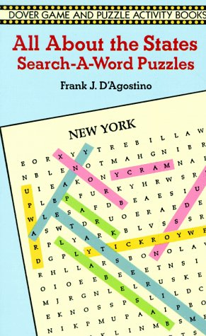 All about the States Search-A-Word Puzzles