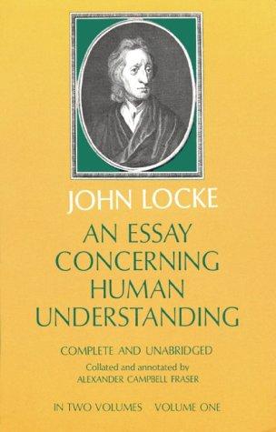 An Essay Concerning Human Understanding, Vol. 1 9780486205304
