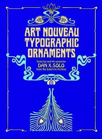 Art Nouveau Typographic Ornaments 9780486243665