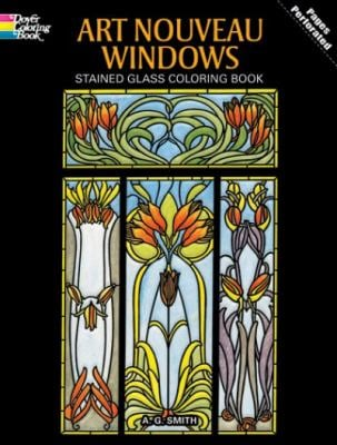 Art Nouveau Windows Stained Glass Coloring Book 9780486277103