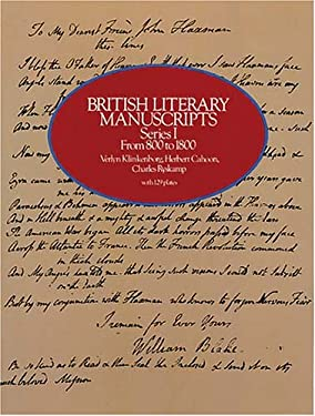 British Literary Manuscripts, Series I: From 800 to 1800 9780486241241