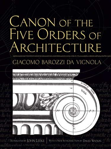 Canon of the Five Orders of Architecture 9780486472621