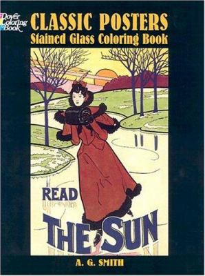 Classic Posters Stained Glass Coloring Book 9780486433431