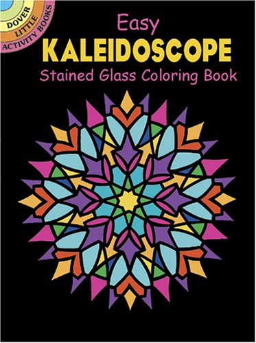 Easy Kaleidoscope Stained Glass Coloring Book