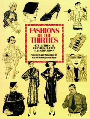 Fashions of the Thirties: 476 Authentic Copyright-Free Illustrations 9780486275802