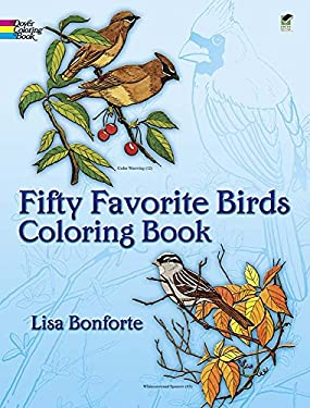 Fifty Favorite Birds Coloring Book 9780486242613