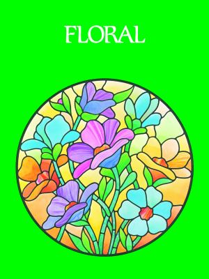 Floral Stained Glass Pattern Book 9780486242590