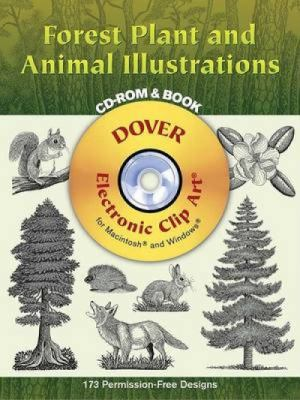 Forest Plant and Animal Illustrations [With CDROM] 9780486996622