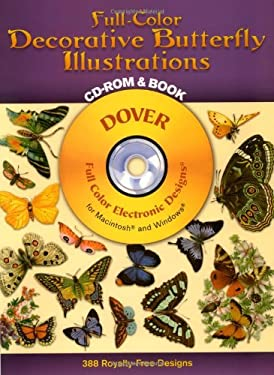 Full-Color Decorative Butterfly Illustrations CD-ROM and Book [With CDROM] 9780486999661