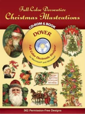 Full-Color Decorative Christmas Illustrations CD-ROM and Book 9780486999678