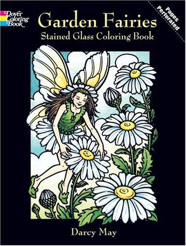 Garden Fairies Stained Glass Coloring Book 9780486423883