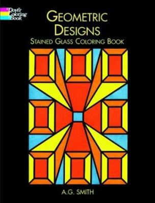 Geometric Designs Stained Glass Coloring Book 9780486408088