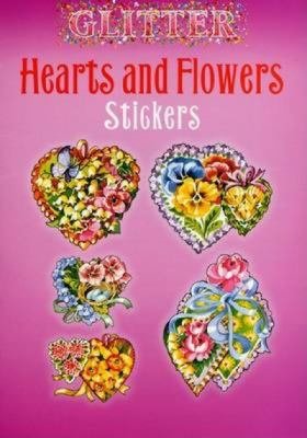 Glitter Hearts and Flowers Stickers 9780486439402