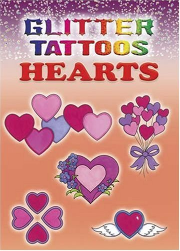 Glitter Tattoos Hearts 9780486458489