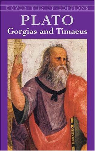 Gorgias and Timaeus 9780486427591