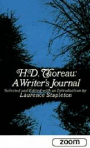 H. D. Thoreau, a Writer's Journal 9780486206783