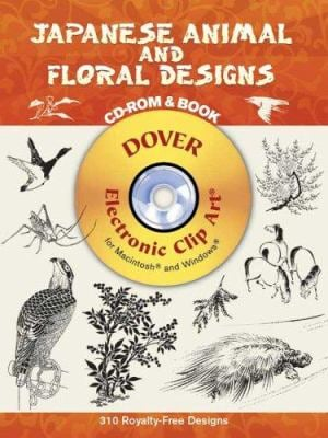 Japanese Animal and Floral Designs [With CDROM] 9780486996875