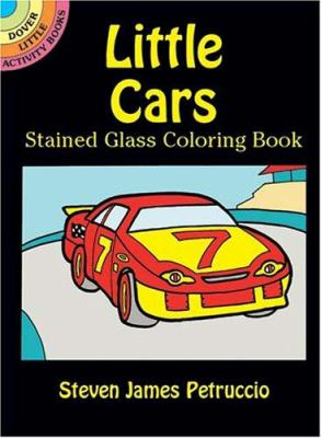Little Cars Stained Glass Coloring Book 9780486430027