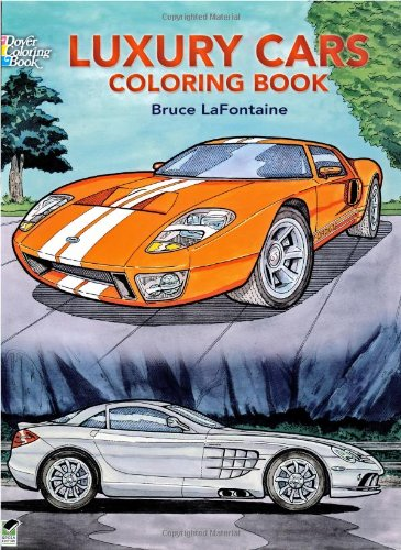Luxury Cars Coloring Book 9780486444369