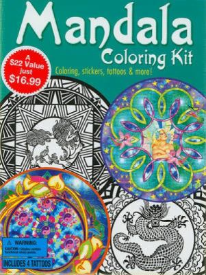 Mandala Coloring Kit [With 24 Stickers and Poster and Crayons and 4 Large Tattoos and 3 Coloring Books] 9780486477145