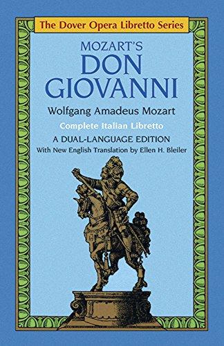Mozart's Don Giovanni (the Dover Opera Libretto Series)