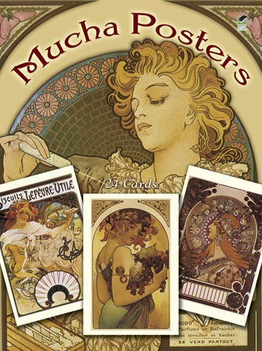 Mucha Posters Postcards: 24 Ready-To-Mail Cards 9780486250809