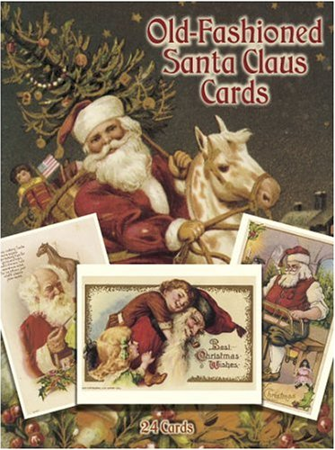 Old-Fashioned Santa Claus Cards: 24 Cards