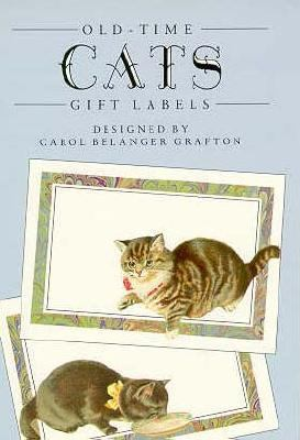 Old-Time Cats Gift Label Stickers