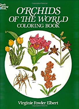 Orchids of the World Coloring Book 9780486245850