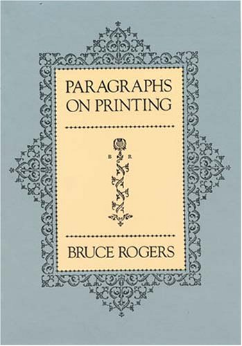 Paragraphs on Printing 9780486238173